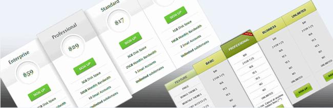2个免费的WordPress价格表插件:Pricing Table 和 Easy Pricing Table